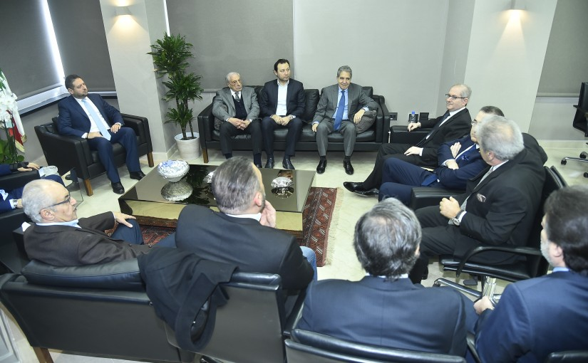 Minister Ghazi Wazni meets a Delegation from Beirut Traders