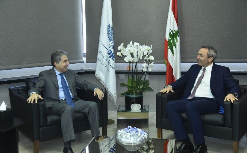 Minister Ghazi Wazni meets British Ambassador