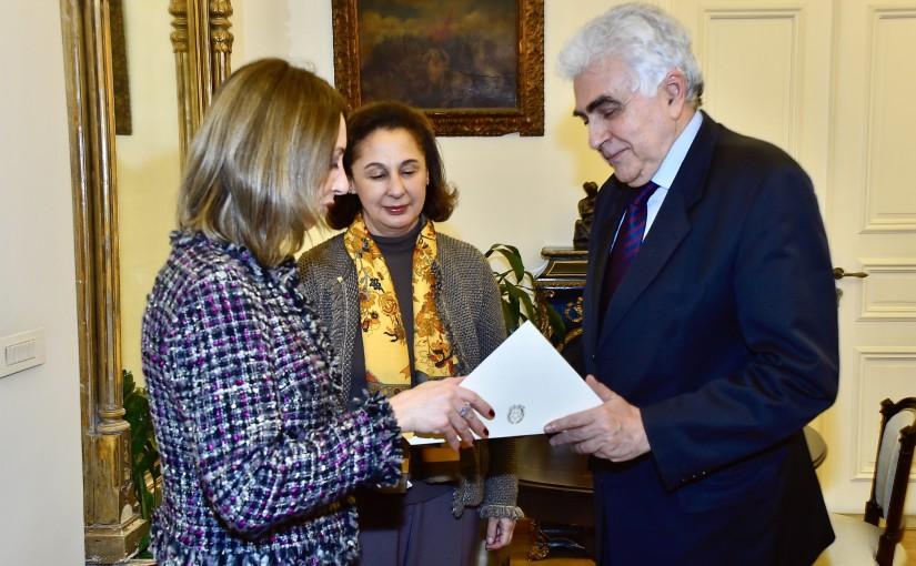 Minister Nassif Hitti meets Italian Ambassador
