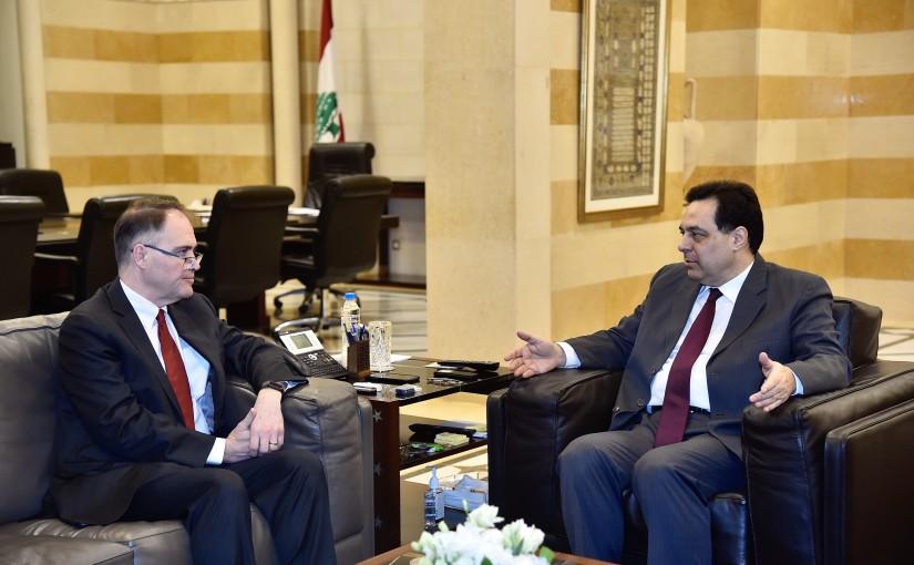 Pr Minister saad Hariri meets Mr Daryl Mondis
