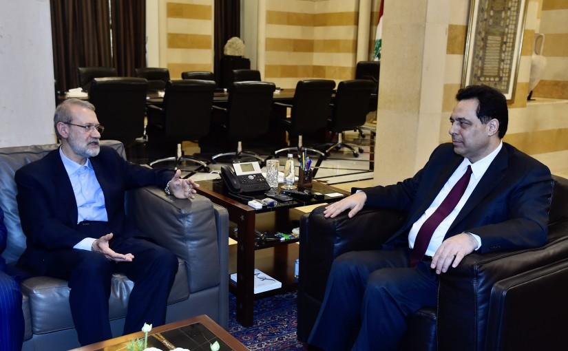 Pr Minister Hassan Diab meets Dr. Ali Larijani Speaker of the Parliament of Iran