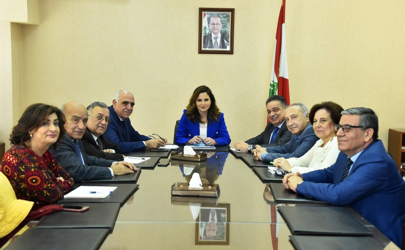 Minister Nawal Abdel Samad meets a Delegation from Editors Syndicate