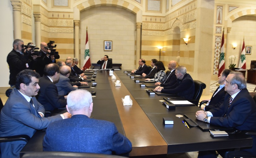 Pr Minister Hassan Diab meets a Delegation from Banks Association