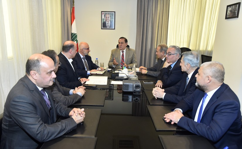 Minister Imad Habalah meets a Delegation from Food Syndicate
