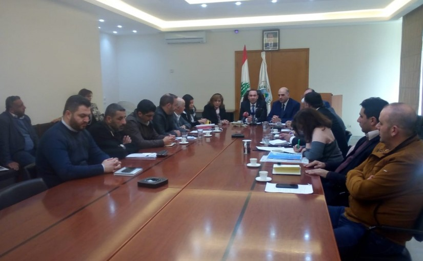 Minister Abass Morthada meets a Delegation of Lebanese Farmers