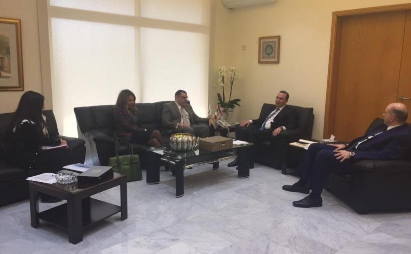 Minister Abass Morthada meets Egyptian Ambassador