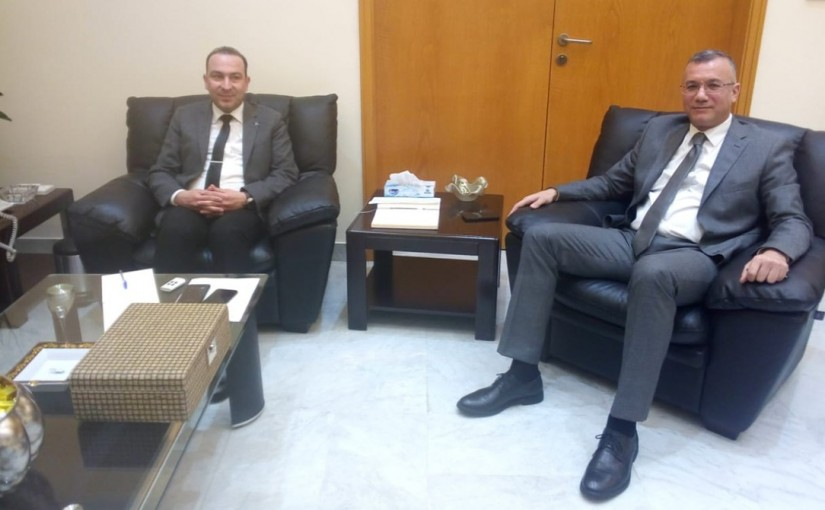 Minister Abass Morthada meets Mr Ibrahim Nassar