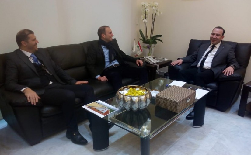Minister Abass Morthada meets Mr Bachir Khodor
