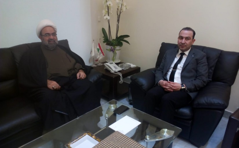 Minister Abass Morthada meets Sheikh Hassan Charifieh