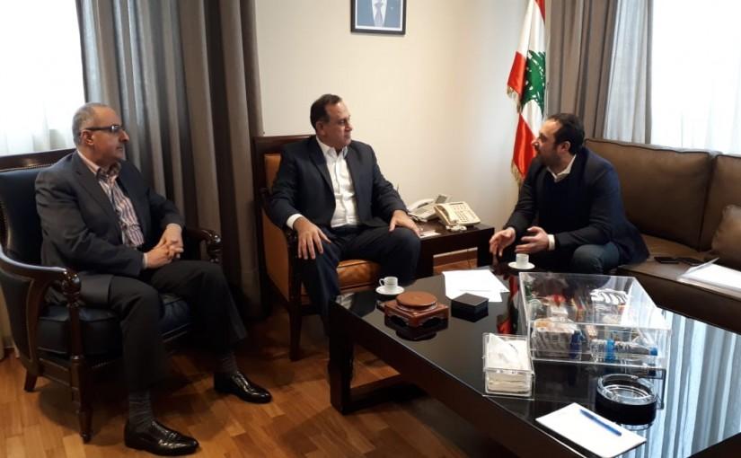 Minister Imad Habalah meets Mr Sami Alaouiyet