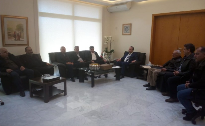 Minister Abass Morthada meets a Delegation from Baalbak