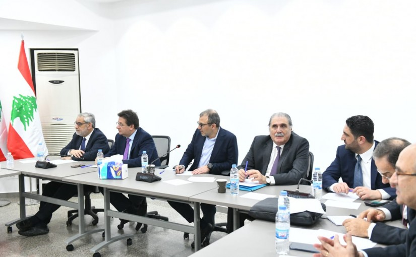 Former Minister Gebran Bassil Heading a Meeting for Free Patriot Movement