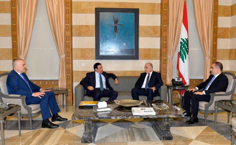 Minister Mouhamad Fehmi meets Minister Michel Najar