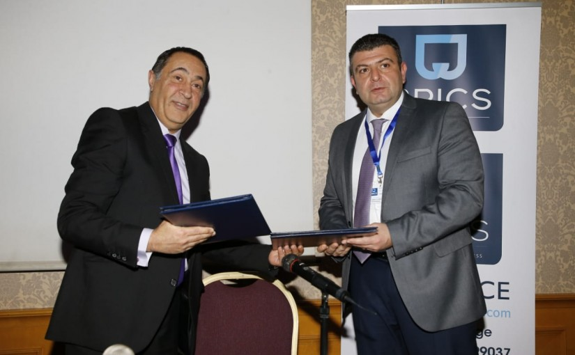 Celebration of signing a cooperation protocol between the Industrial Calculators Association and the BRICS Insurance Company