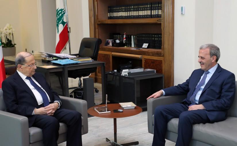 President Michel Aoun meets Ambassador Gaby Issa.