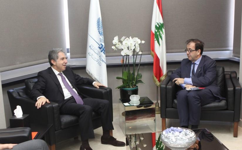 Minister Ghazi Wazni meets French Ambassador