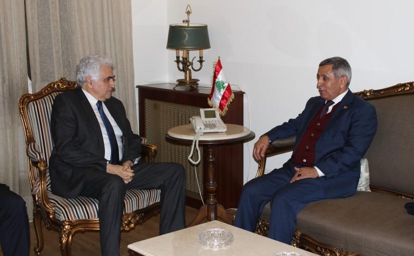 Minister Nassif Hiti meets Yamen Ambassador