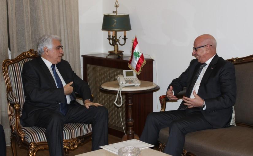 Minister Nassif Hiti meets Maroc Ambassador