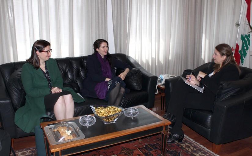 Minister Marie Claude Najem meets Australian Ambassador