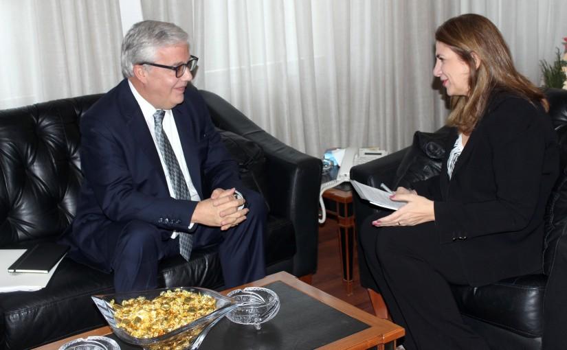 Minister Marie Claude Najem meets Mexican Ambassador