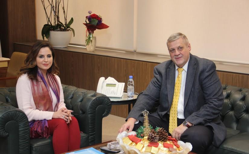 Minister Manal Abdel Samad meets Mr Yan Kobish