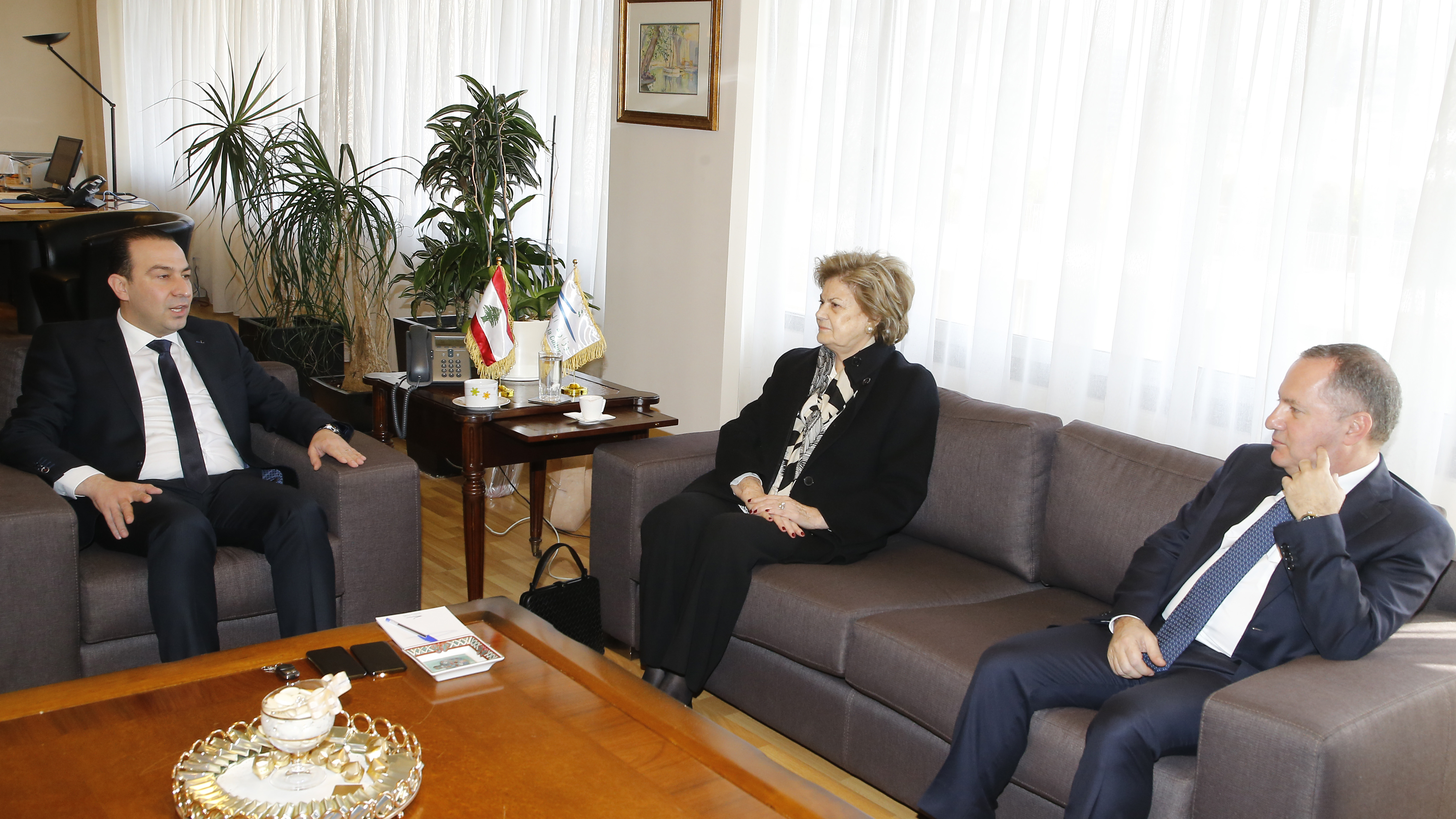 Minister Abass Morthada meets Mrs Mouna el Hraoui