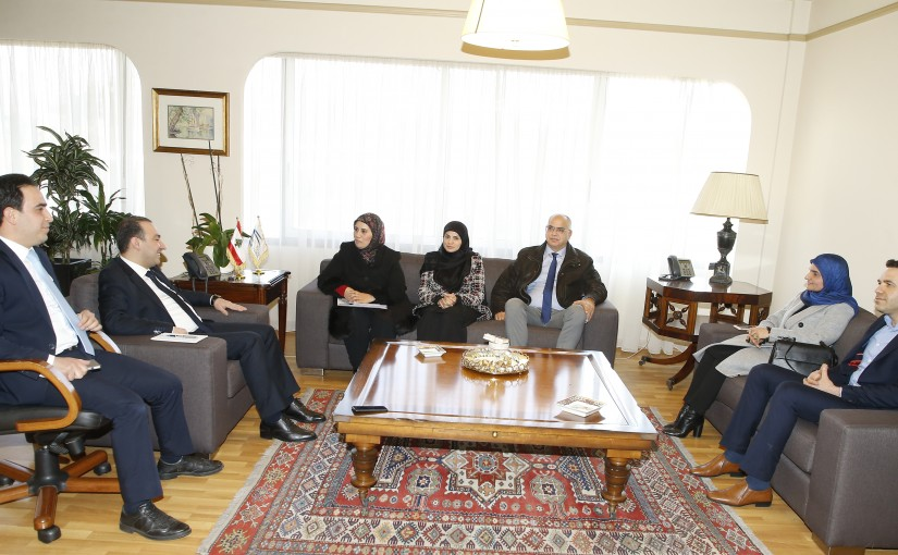 Minister Abass Morthada meets a Delegation from Lebanese Culture