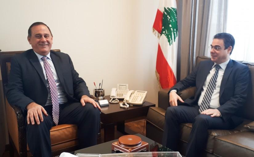 Minister Imad Haballah meets MP Nicholas Sehnaoui