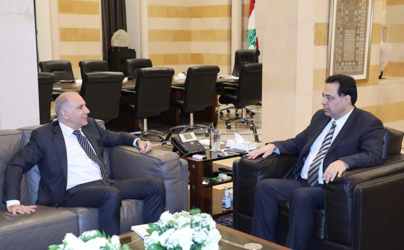 Pr Minister Hassan Diab meets Mr Hassan Kraytem