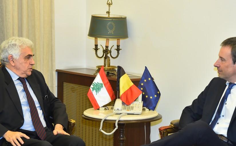 Minister Nassif Hiti meets a Belgium Delegation