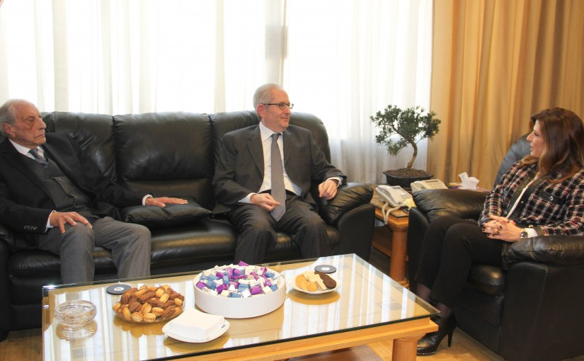 Minister Lamya Yamine meets a Delegation from Beirut Traders