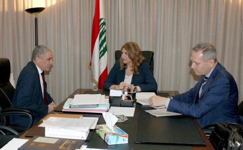 Minister Marie Claude Najem meets European Ambassadors