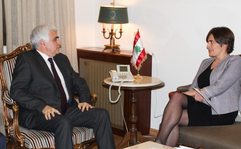 Minister Nassif Hiti meets Canadian Ambassador