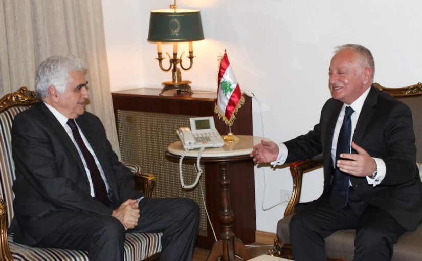 Minister Nassif Hiti meets Armenian Ambassador