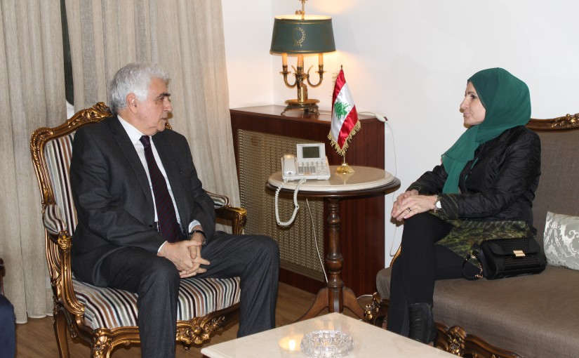 Minister Nassif Hiti meets Mrs Ayda Jaafar