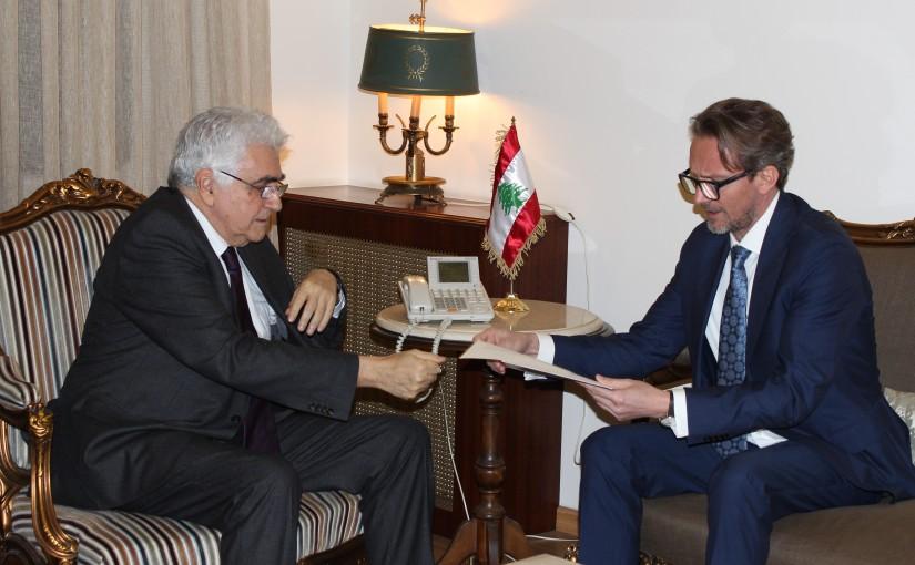 Minister Nassif Hiti meets Poland Ambassador