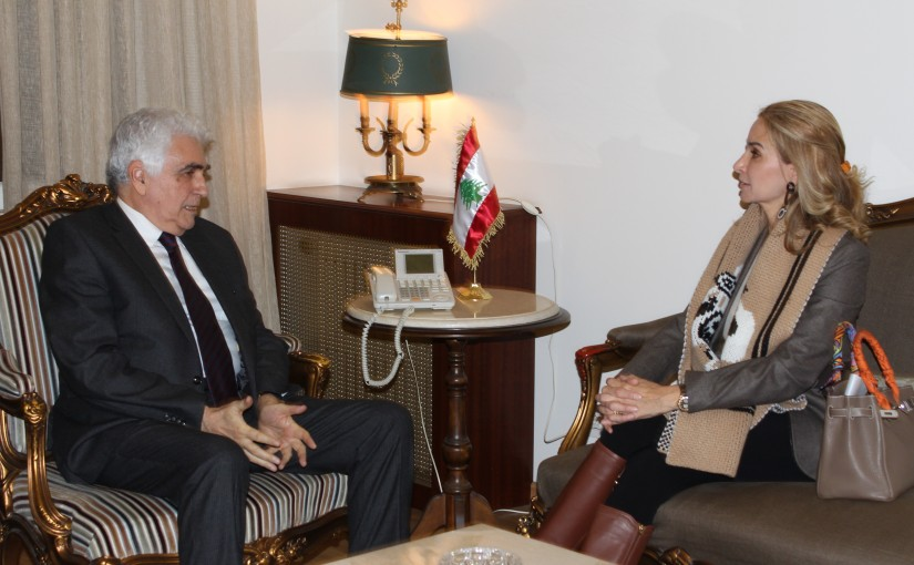 Minister Nassif Hiti meets Swiss Ambassador