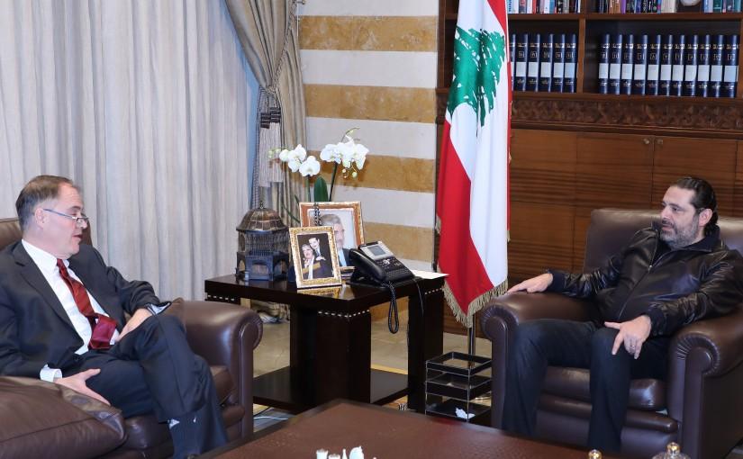 Former Pr Minister Saad Hariri meets Mr Darrell Mandiss