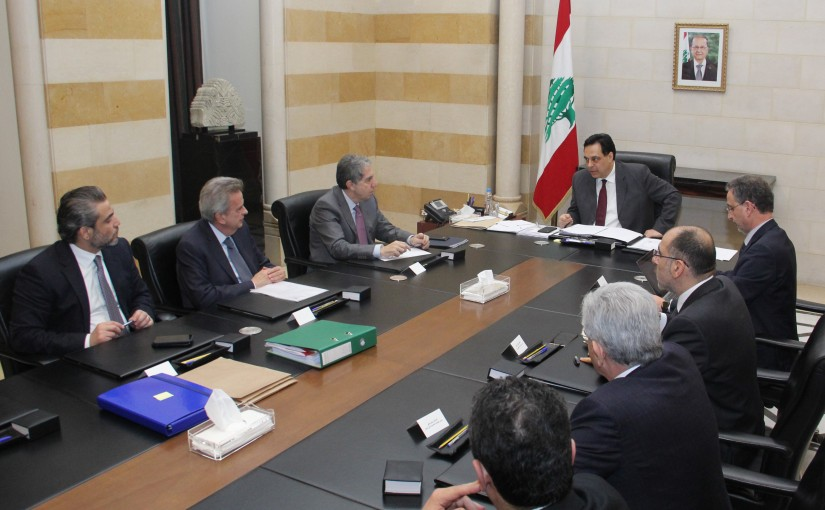 Pr Minister Hassan Diab Heading a Economical Meetings