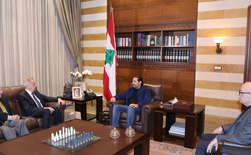Former Pr Minister Saad Hariri meets a Delegation from Children Cancer Center