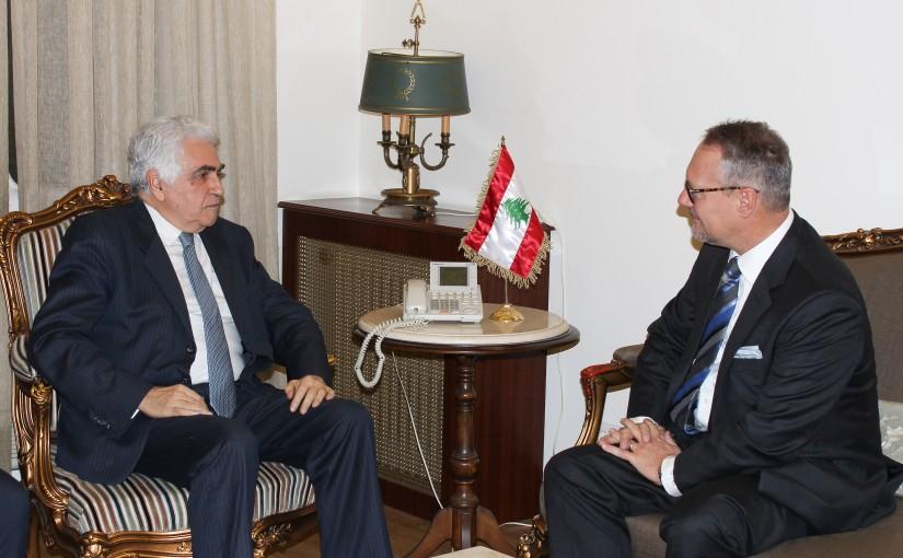 Minister Nassif Hiti meets Austria Ambassador