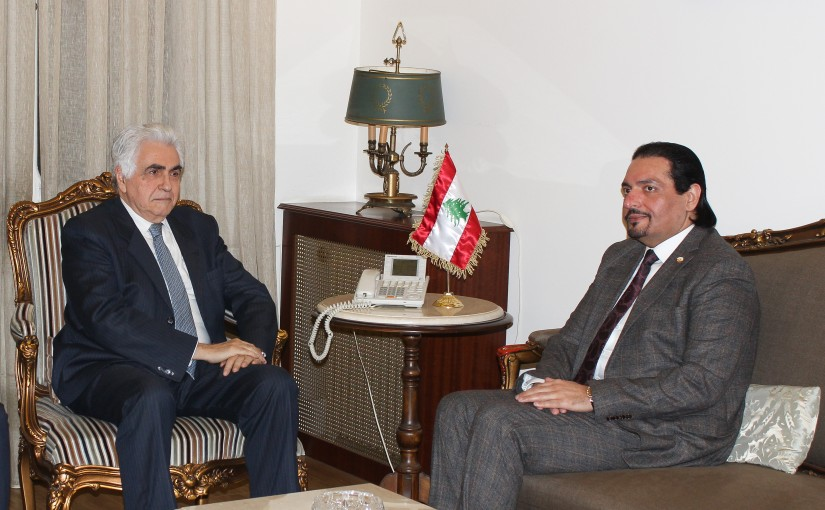 Minister Nassif Hiti meets Qatar Ambassador