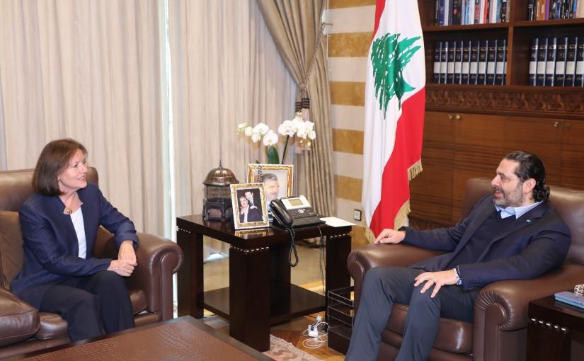 Former Pr Minister Saad Hariri meets US Ambassador
