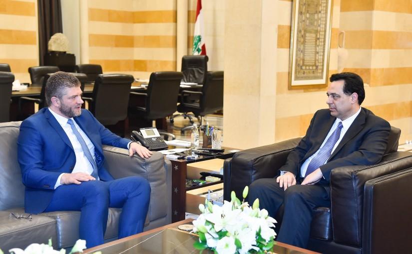 Pr Minister Hassan Diab meets Serbia Ambassador