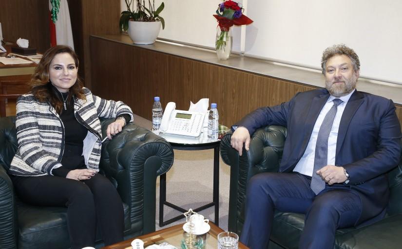 Minister Manal Abdel Samad meets MP Neamat Frem