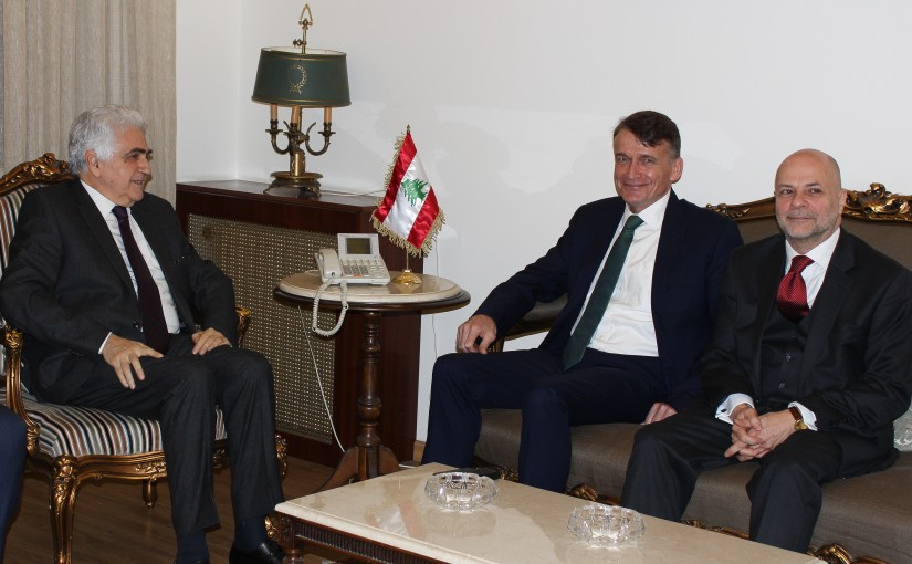 Minister Nassif Hiti meets a Delegation from UNRWA