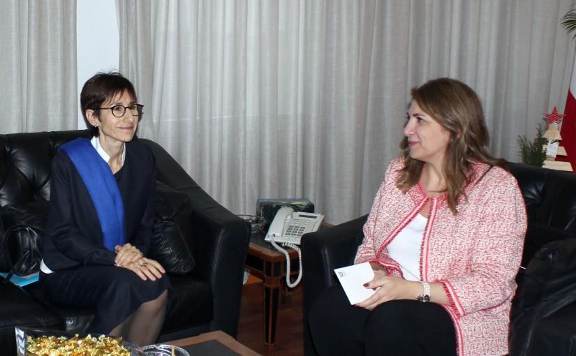 Minister Marie Claude Najem meets Mirrielle Gerard