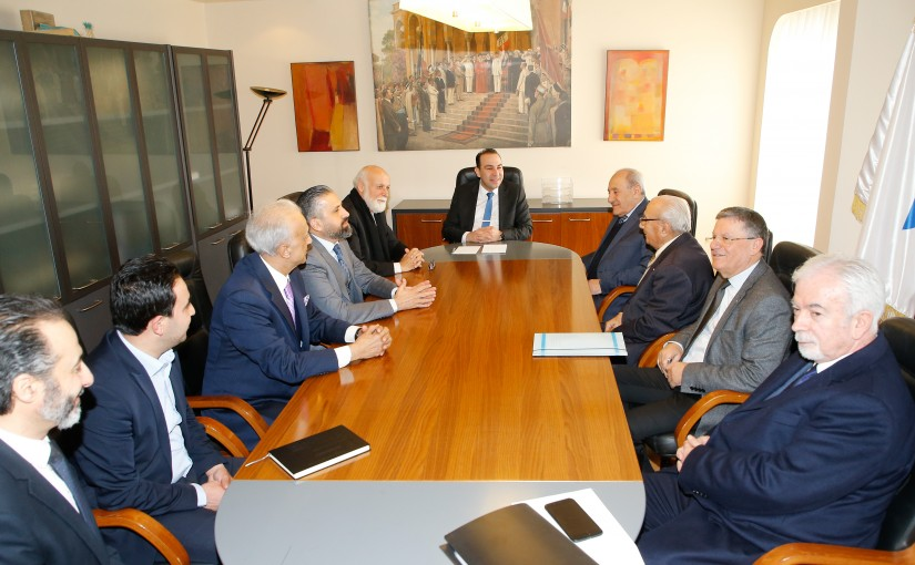 Minister Abass Morthada meets a Delegation from Lebanese Artist