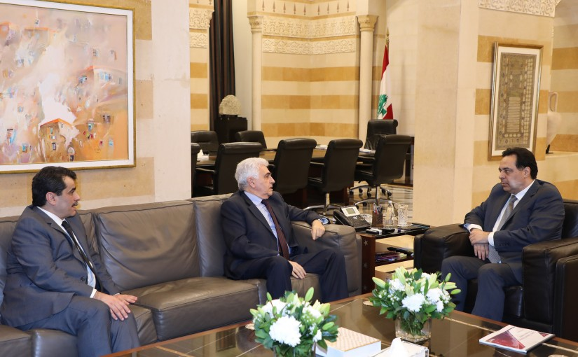 Pr Minister Hassan Diab meets Minister Nassif Hiti