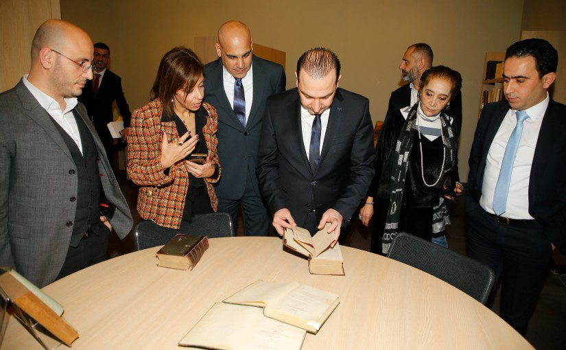 Minister Abass Morthada Visits the National Lebanese Library